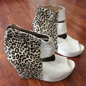 Matiko animal print wedges